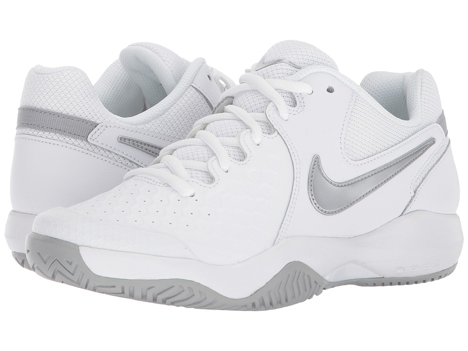 Nike Air Zoom Resistance (White/Metallic Silver/Wolf Grey) Women's Tennis Shoes
