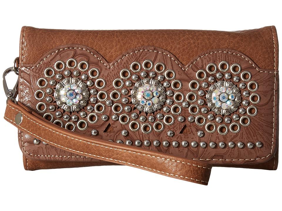 M&F Western - Rhianna Clutch (Brown) Clutch Handbags