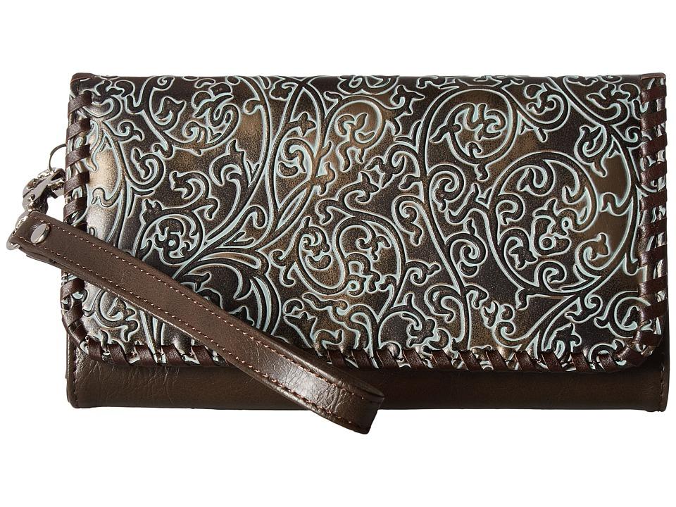 M&F Western - Katelyn Clutch (Green) Clutch Handbags