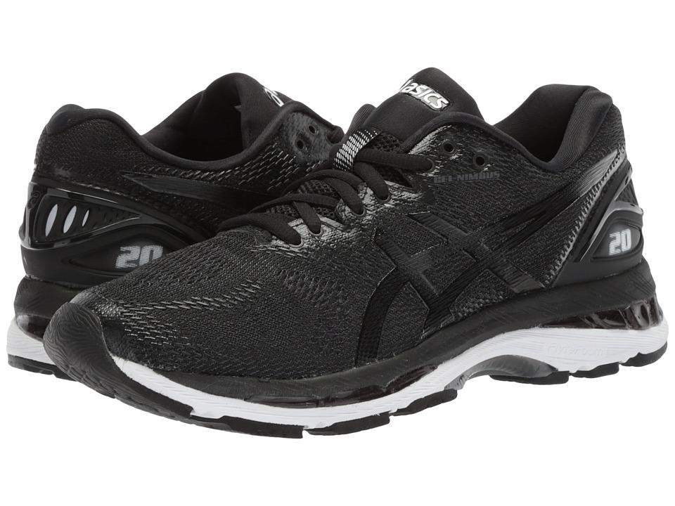 Asics GEL-Nimbus(r) 20 (Black/White/Carbon) Women's Runni...