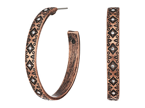 M&F Western Aztec Hoop Earrings - Copper