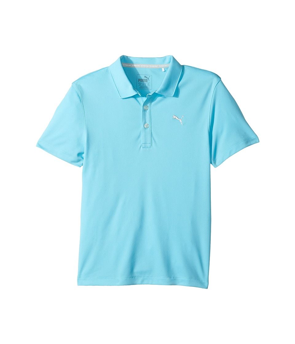 PUMA Golf Kids - Essential Pounce Polo (Big Kids) (Energy Turquoise) Boys Short Sleeve Pullover
