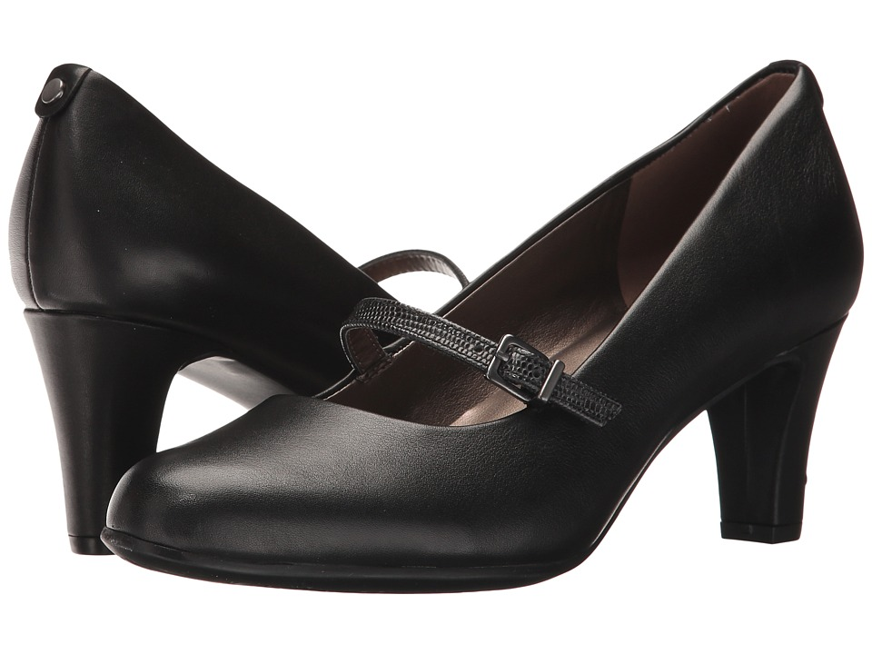 1950s Style Shoes Easy Spirit - Ampara BlackBlack Leather Womens Shoes $70.99 AT vintagedancer.com