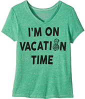The Original Retro Brand Kids - I'm on Vacation Time Tri-Blend V-Neck (Big Kids)