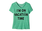 I'm on Vacation Time Tri-Blend V-Neck (Big Kids)