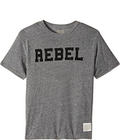 The Original Retro Brand Kids - Rebel Short Sleeve Tri-Blend Tee (Big Kids)