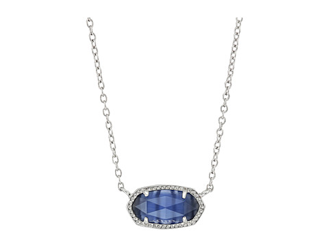 Kendra Scott Elisa Necklace - Rhodium/Navy Cats Eye