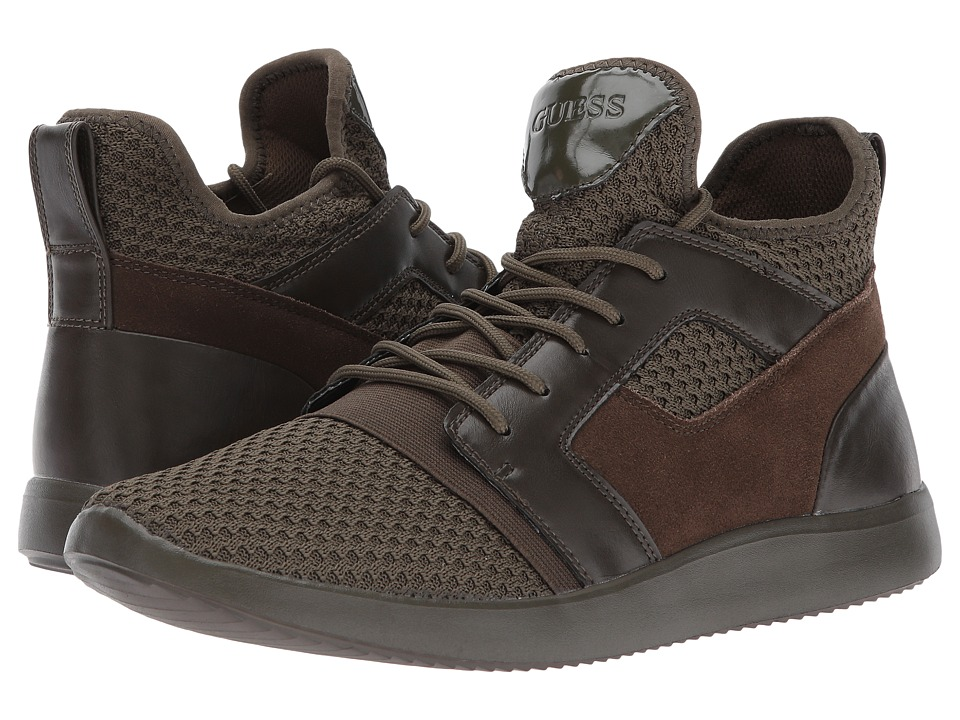 GUESS Caleb (Olive Synthetic) Men