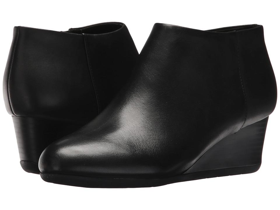 Easy Spirit Leinee (Black Leather) Women