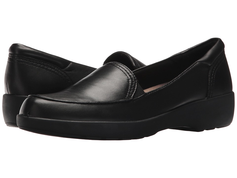 Easy Spirit Karin (Black/Black Leather) Women