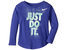 Nike Kids Hard Stop Just Do It Modern Long Sleeve Tee (Toddler)
