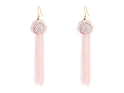 Vanessa Mooney Astrid Knotted Tassel Earrings - Blush