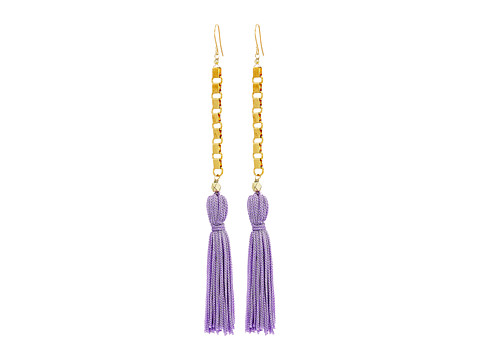 Vanessa Mooney The Davina Tassel Earrings - Purple