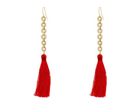 Vanessa Mooney The Isla Tassel Earrings - Red