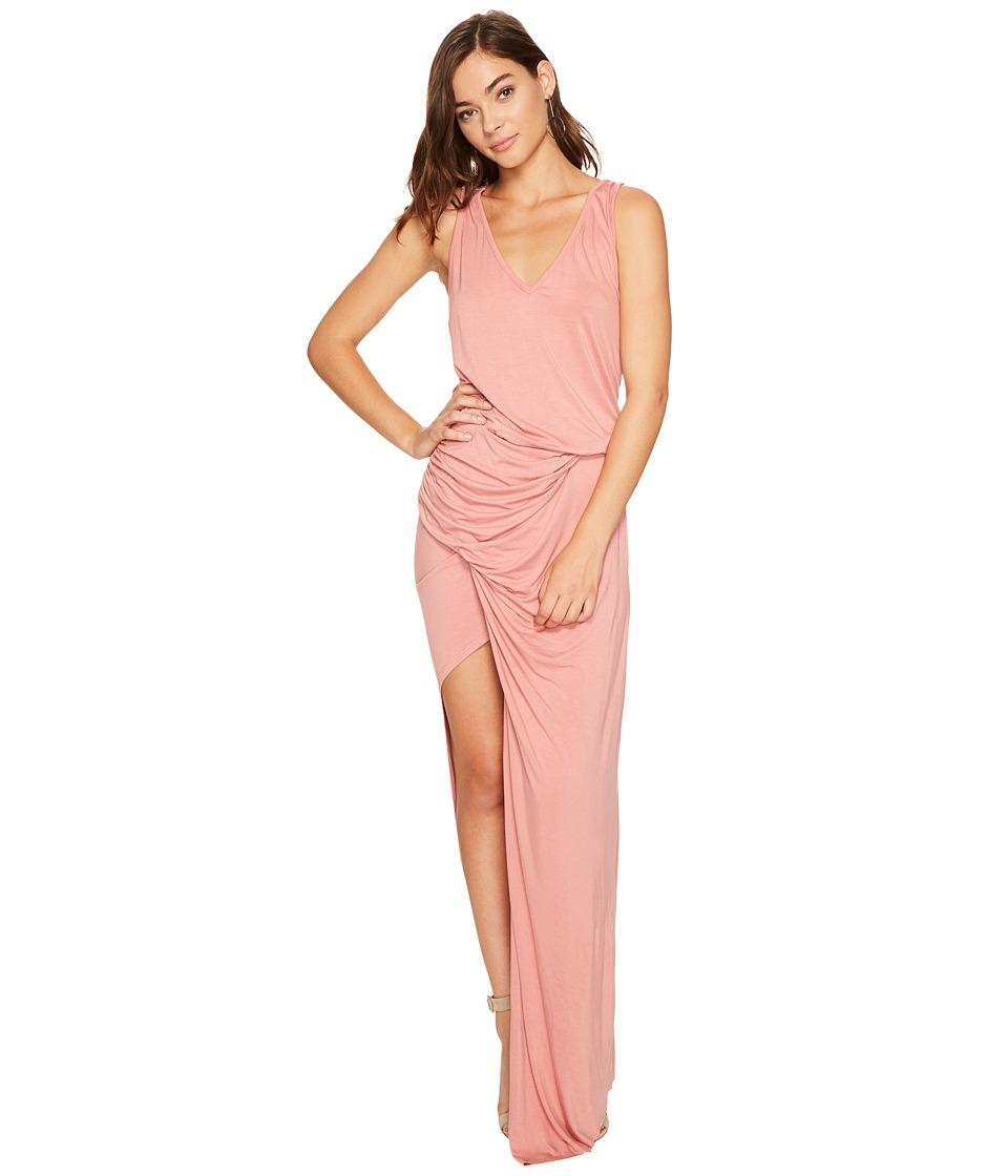 Young Fabulous & Broke Lila Dress (Peach Solid) Women