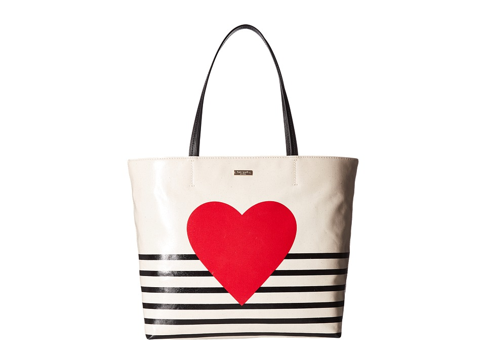 Kate Spade New York - Yours Truly Heart Stripe Hallie (Mu...