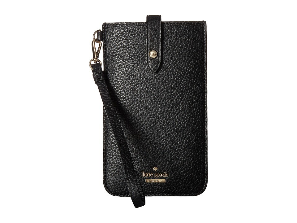 Kate Spade New York - Pebbled Phone Sleeve for iPhone(r) 6, 6 Plus, 7, 7 Plus, 8, 8 Plus (Black) Cell Phone Case