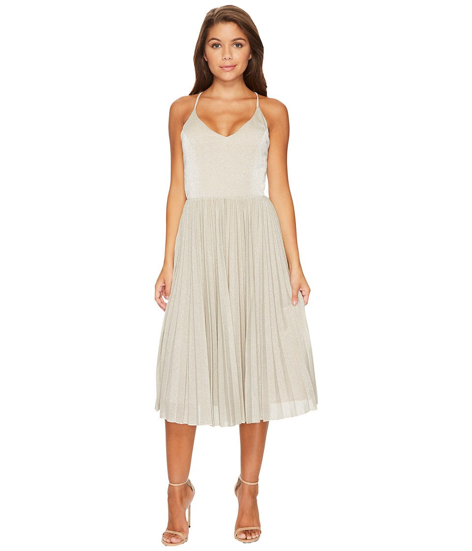 Adelyn Rae Jolene Fit and Flare Dress (Silver) Women