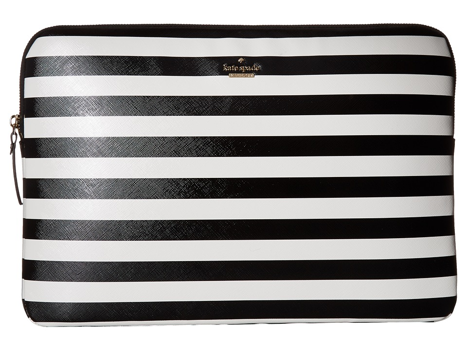 Kate Spade New York Universal Laptop Sleeve (Black/Cream) Computer Bags