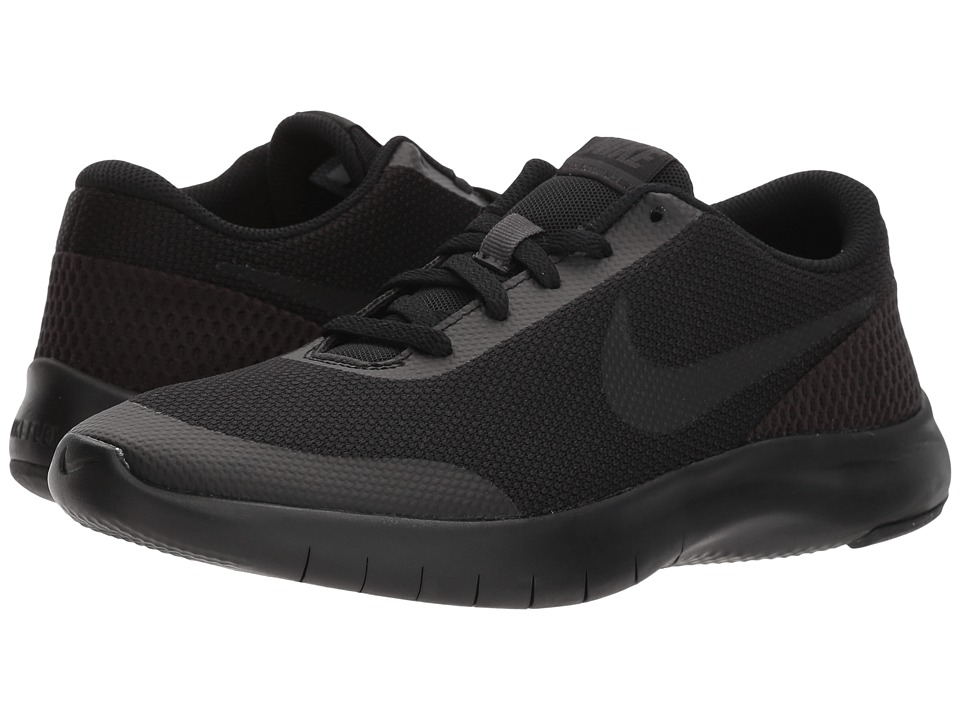Nike Kids Flex Experience Run 7 (Big Kid) (Black/Black/Anthracite) Boys Shoes