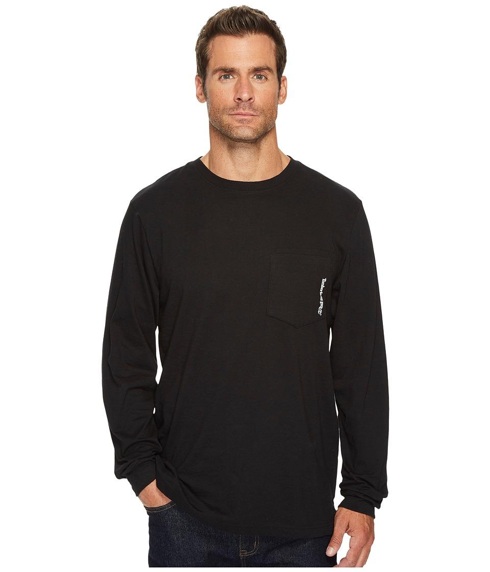 Timberland PRO - Base Plate Blended Long Sleeve T-Shirt (Jet Black) Mens Clothing