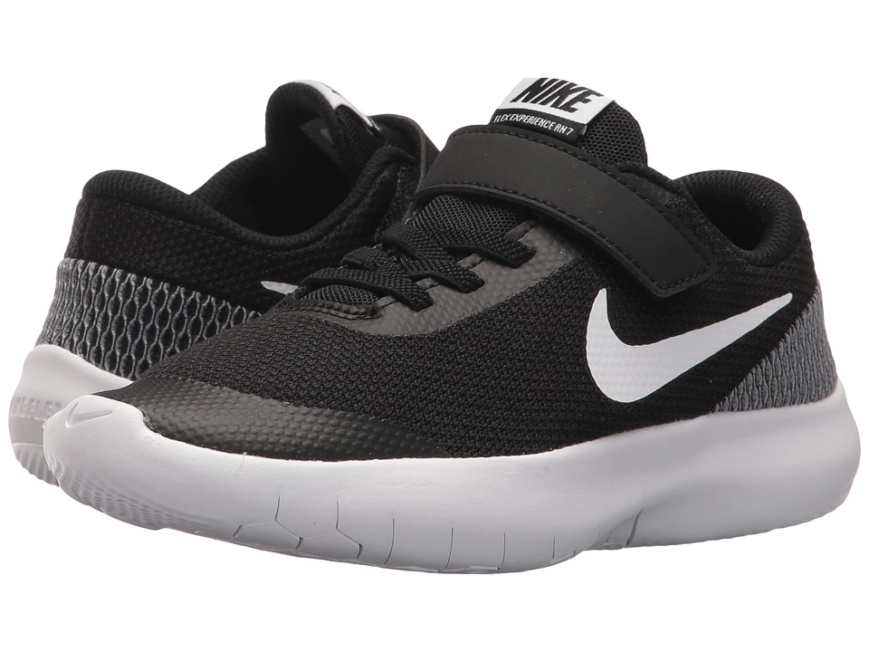 Nike Kids Flex Experience Run 7 (Little Kid) (Black/White/White) Boys Shoes
