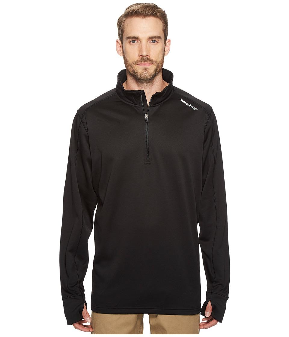 Timberland PRO - Understory 1/4 Zip Fleece Top (Jet Black) Mens Fleece