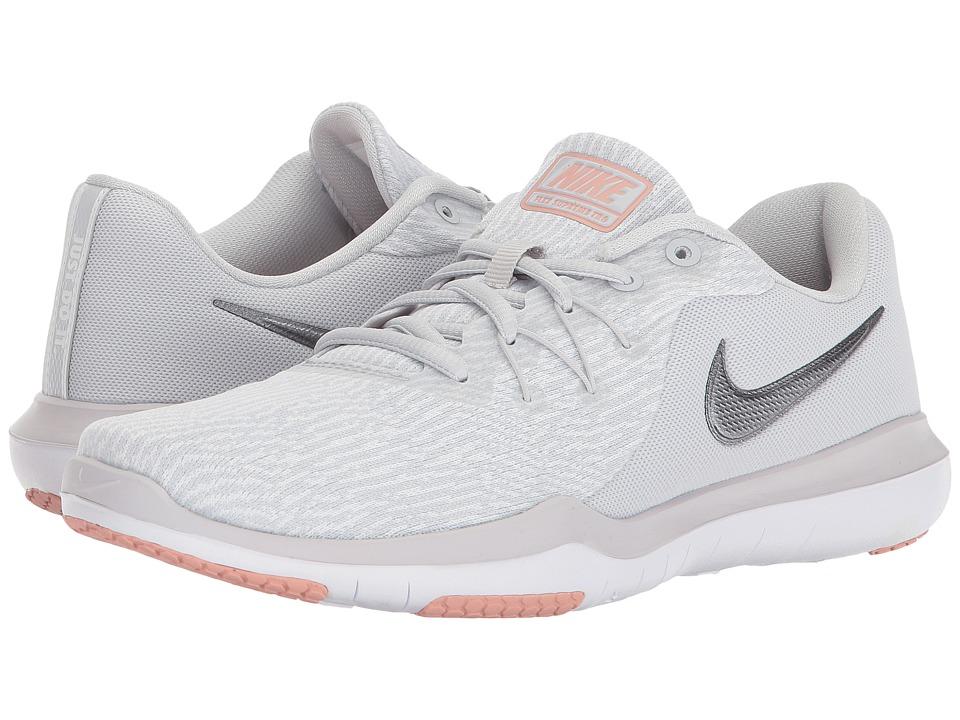 ba16cdc2828 Nike Flex Supreme TR 6 Training (Vast Grey-Metallic Silver-White) Womens  Cross Training Shoes