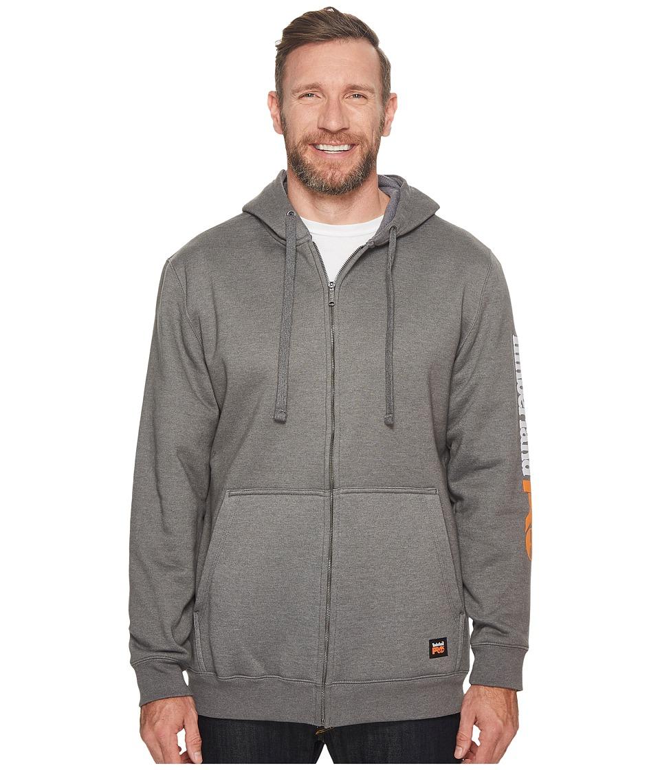 Timberland PRO - Extended Hood Honcho Full Zip Hooded Sweatshirt (Charcoal Heather) Mens Sweatshirt