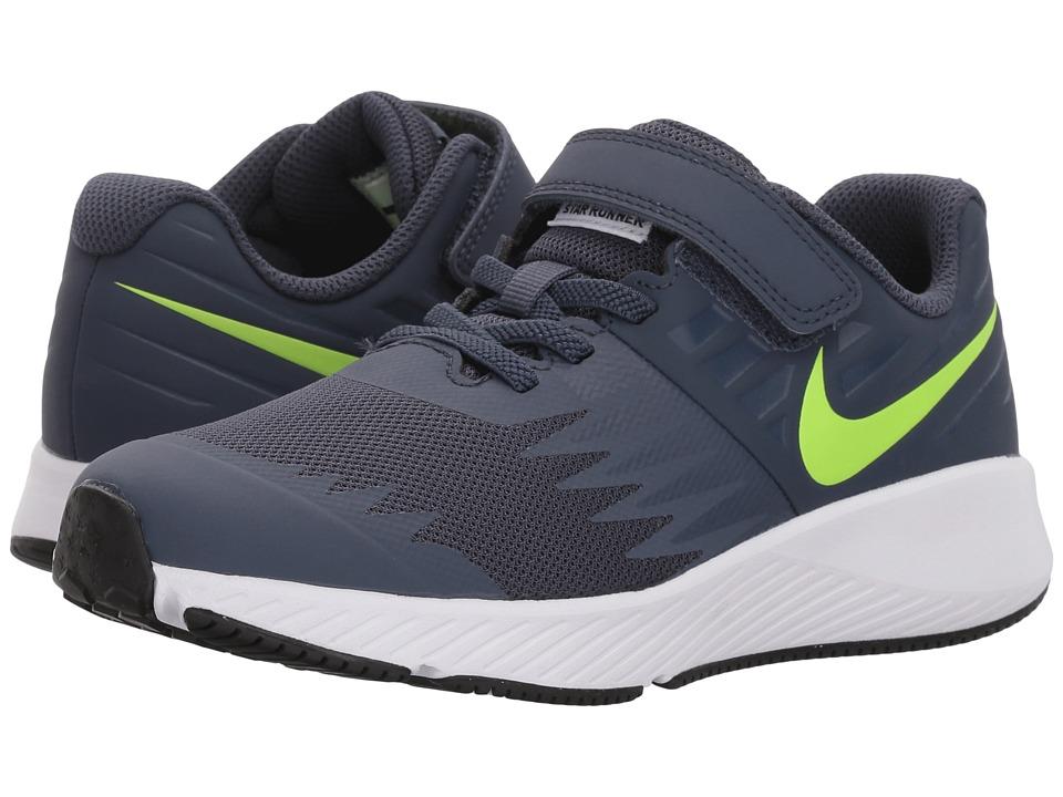 Nike Kids - Star Runner (Little Kid) (Thunder Blue/Volt/W...
