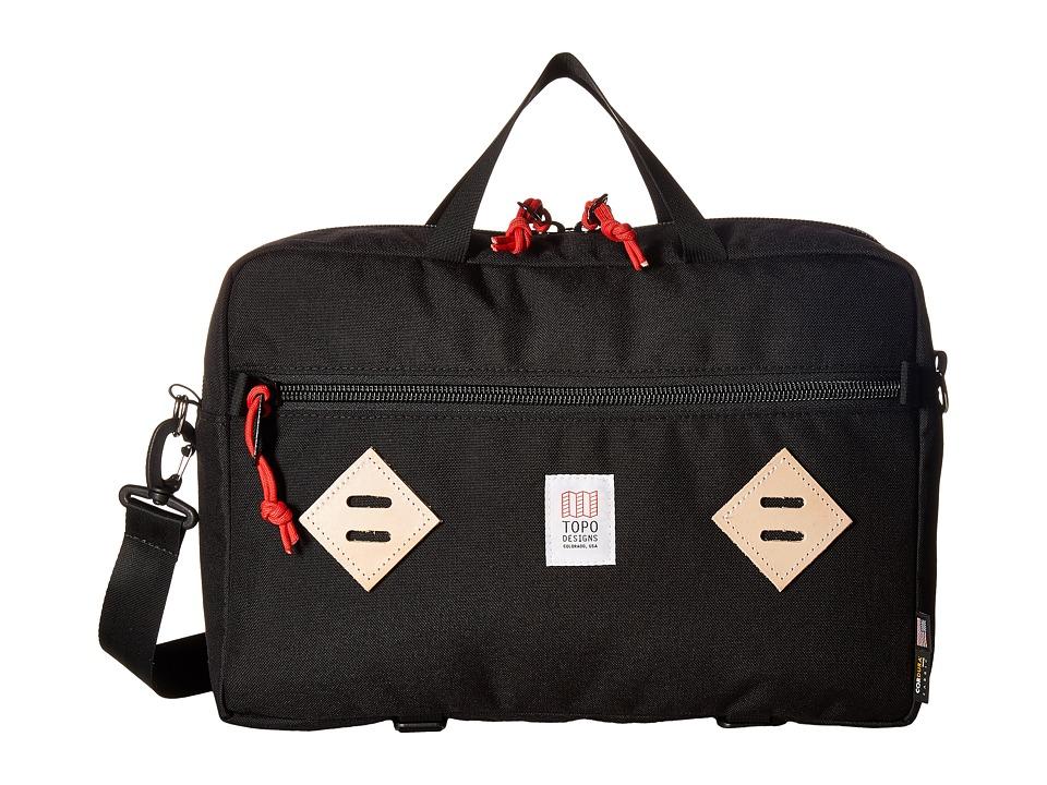 Topo Designs - Mountain Briefcase (Black) Briefcase Bags
