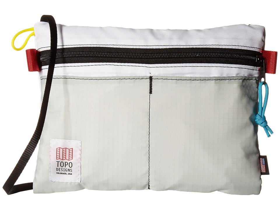 Topo Designs - Accessory Shoulder Bag (White/Silver) Bags