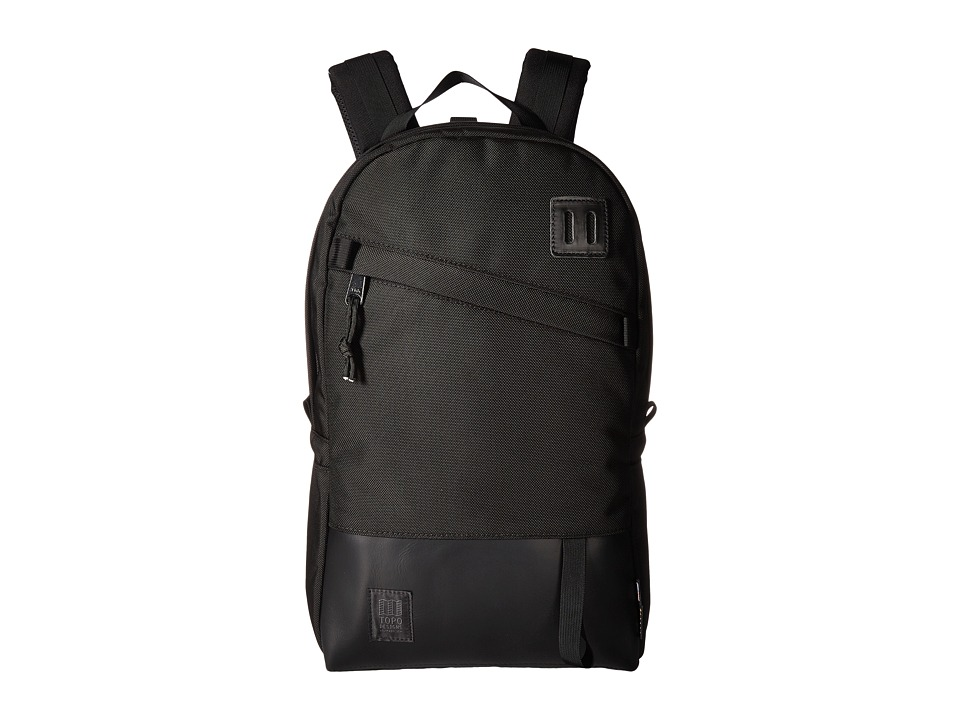 Topo Designs - Daypack (Ballistic Black/Black Leather) Backpack Bags