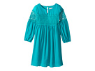 Us Angels - 3/4 Sleeve w/ Lace Inset A-Line Dress (Big Kids)