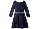 Us Angels 3/4 Sleeve Sequin Lace Party Dress (Big Kids)