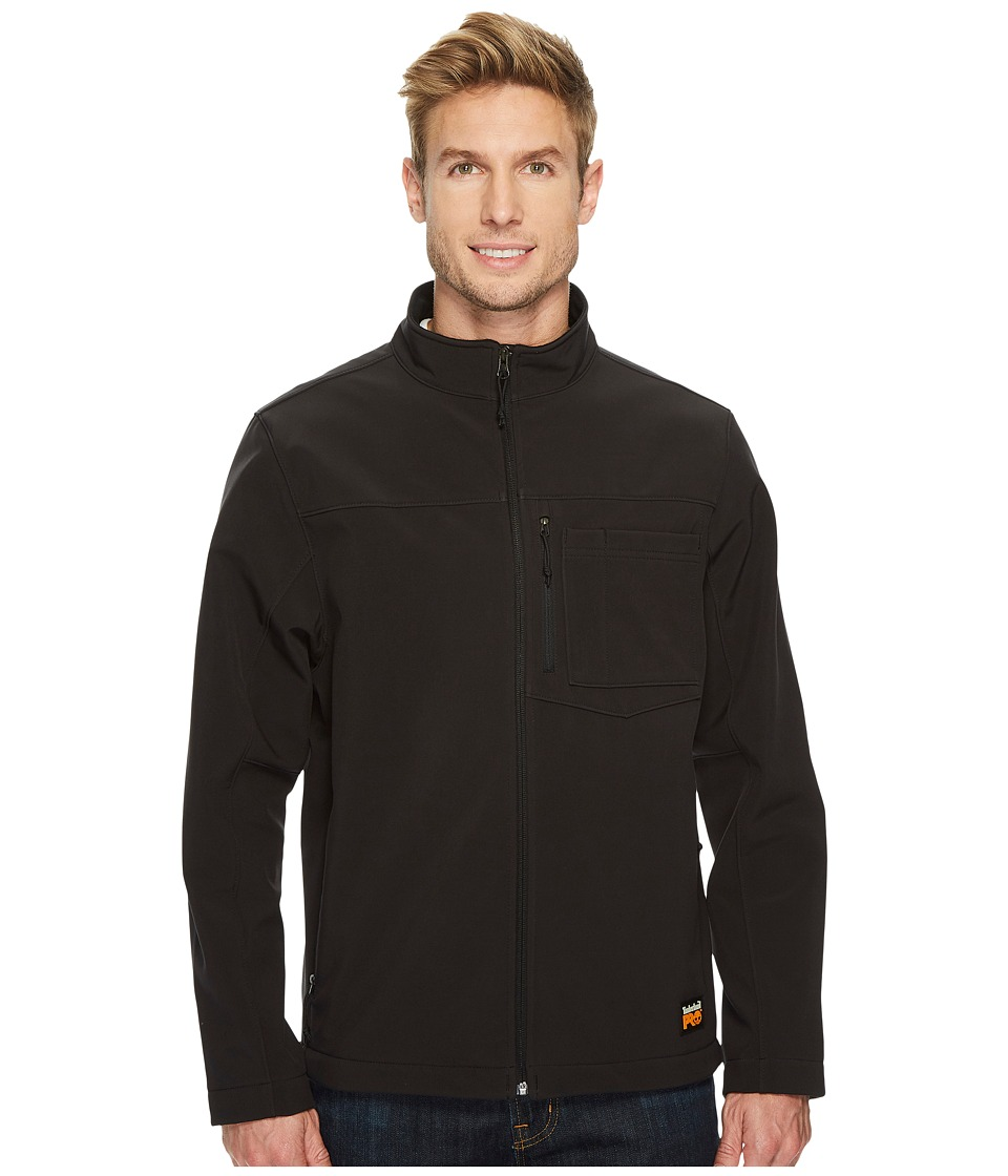 Timberland PRO Power Zip Windproof Softshell Jacket (Jet Black) Men