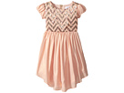 Us Angels Puff Sleeve Empire Dress w/ V-Hemline (Toddler/Little Kids)