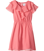 Us Angels - Flutter Sleeve Ruffle Front Dress (Big Kids)
