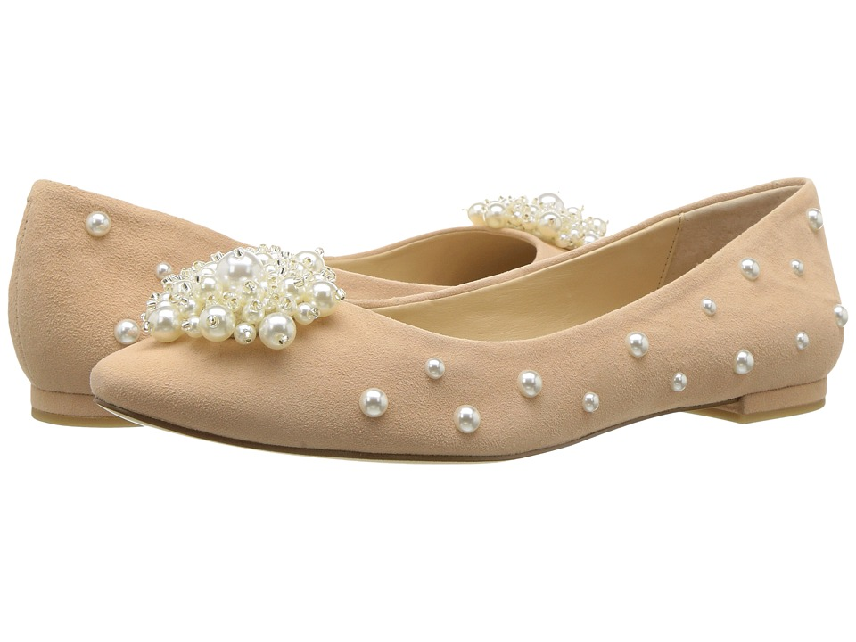 Vintage Style Shoes, Vintage Inspired Shoes Katy Perry - The Lady BlushNude Suede Womens Shoes $89.00 AT vintagedancer.com