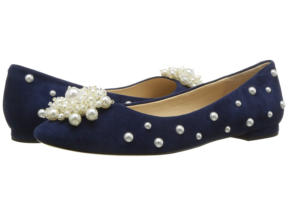 Retro Vintage Flats and Low Heel Shoes Katy Perry - The Lady Navy Suede Womens Shoes $89.00 AT vintagedancer.com