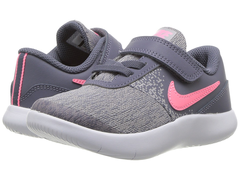 Nike Kids Flex Contact (Infant/Toddler) (Light Carbon/Sunset Pulse) Girls Shoes