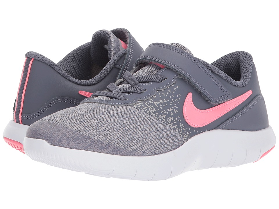 Nike Kids Flex Contact PSV (Little Kid) (Light Carbon/Sunset Pulse) Girls Shoes