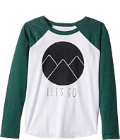 Chaser Kids - Vintage Jersey Long Sleeve Baseball T-Shirt (Little Kids/Big Kids)