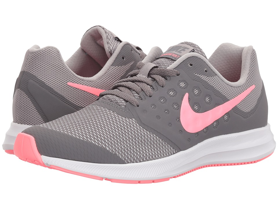 Nike Kids Downshifter 7 (Big Kid) (Gunsmoke/Sunset Pulse/Atmosphere Grey) Girls Shoes