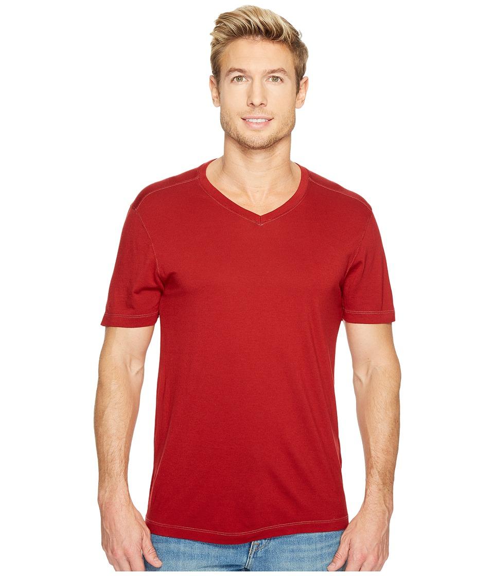 Agave Denim Cory Short Sleeve V-Neck Tee (Red Dahlia) Men