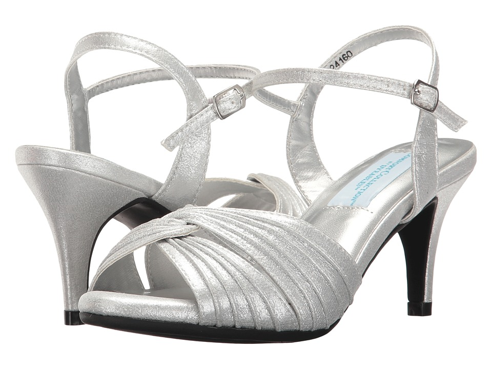 Vintage Style Wedding Shoes, Boots, Flats, Heels Touch Ups - Matilda Silver Womens Shoes $61.00 AT vintagedancer.com