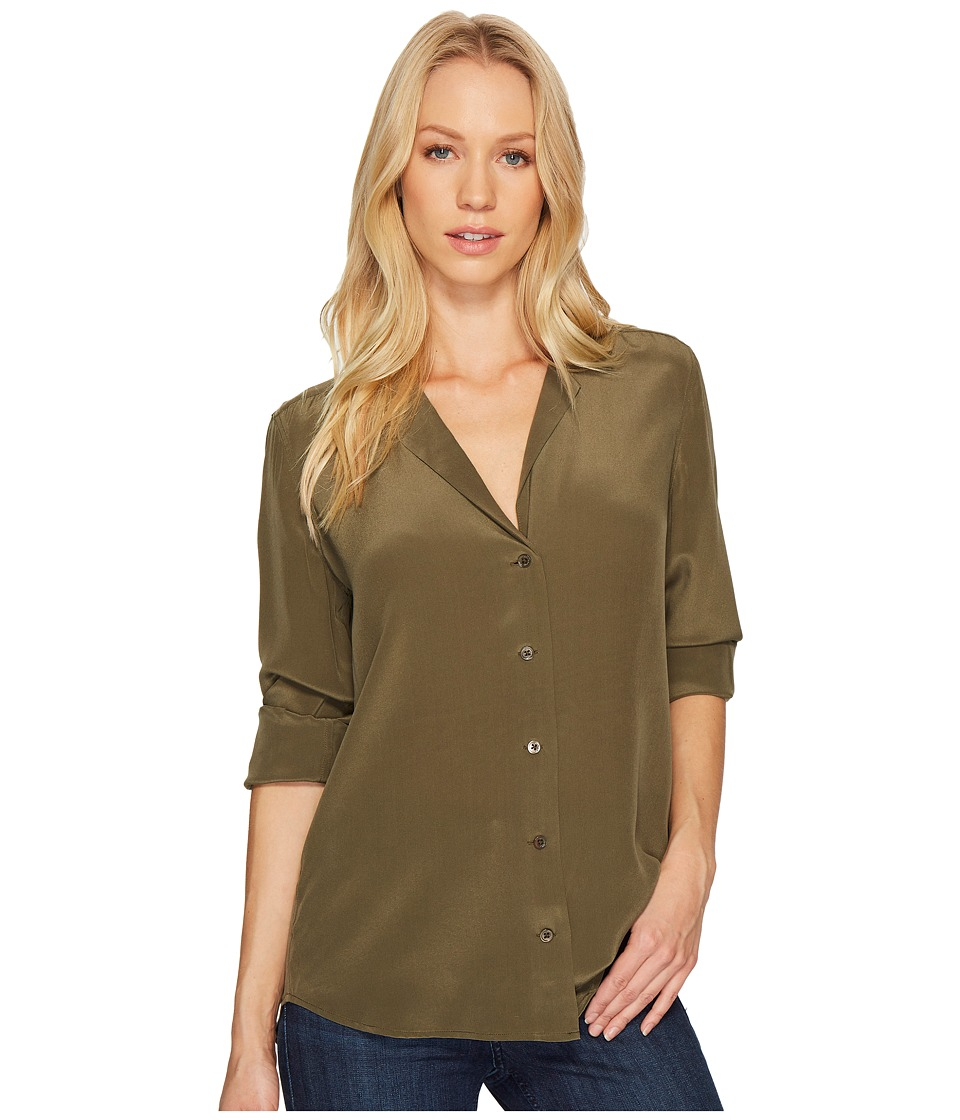 EQUIPMENT - Adalyn V-Neck Button Up Solid
