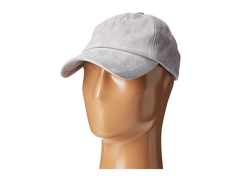 Hat Attack Suede Baseball Cap - Light Grey Suede