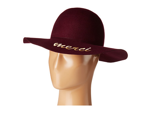Hat Attack What s Your Motto Felt - Merci - Burgundy/Gold