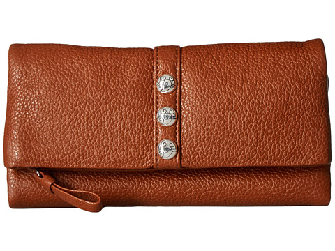 Brighton Nolita Shimmer Large Wallet - Dark Siena